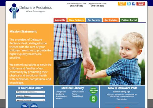 Pediatric web portfolio delaware pediatrics altavistaventures Image collections